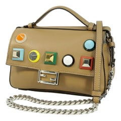 FENDI Mini shoulder multi stats Womens shoulder bag 8M0371 beige