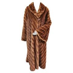 Pre-owned Fendi Mink Fur Full Length Coat (Size 14 - L)