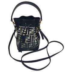 Fendi Mon Tresor Black/Clear Bucket Bag w/ cross body
