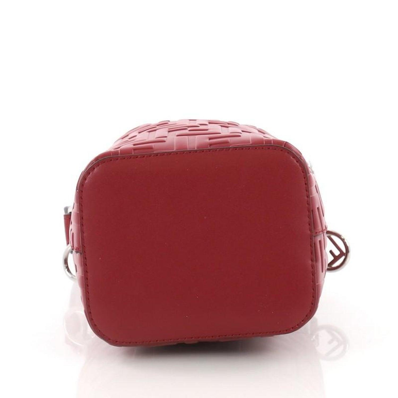 ca48b01d83da Fendi Mon Tresor Bucket Bag Zucca Embossed Leather Mini For Sale at 1stdibs