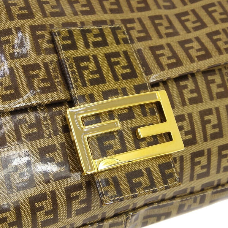 PVC Leather Gold tone hardware Buckle closure Woven lining Made in Italy Adjustable strap drop 4-7