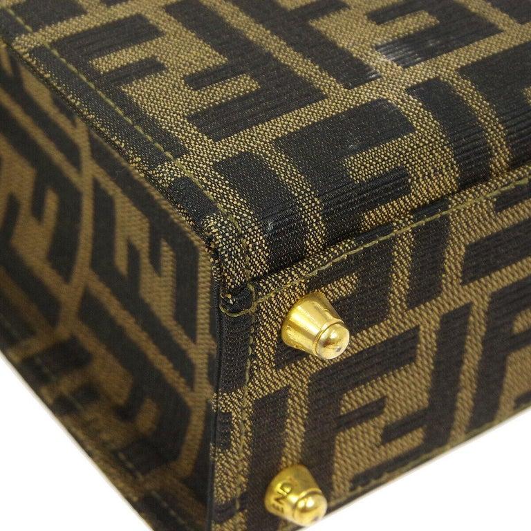 e2b3542d98a1 Women s Fendi Monogram Canvas Box 2 in 1 Small Mini Top Handle Satchel  Shoulder Bag For