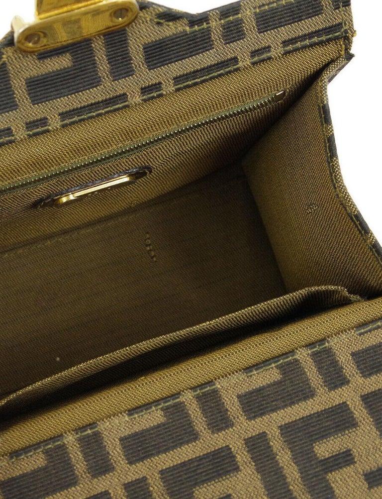 d7f8a4a5b6b2 Fendi Monogram Canvas Box 2 in 1 Small Mini Top Handle Satchel Shoulder Bag  For Sale