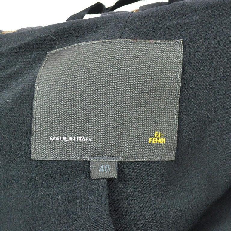 Fendi Monogram 'F' Logo Women's Long Mock Neck Tailored OverCoat Jacket For Sale 1