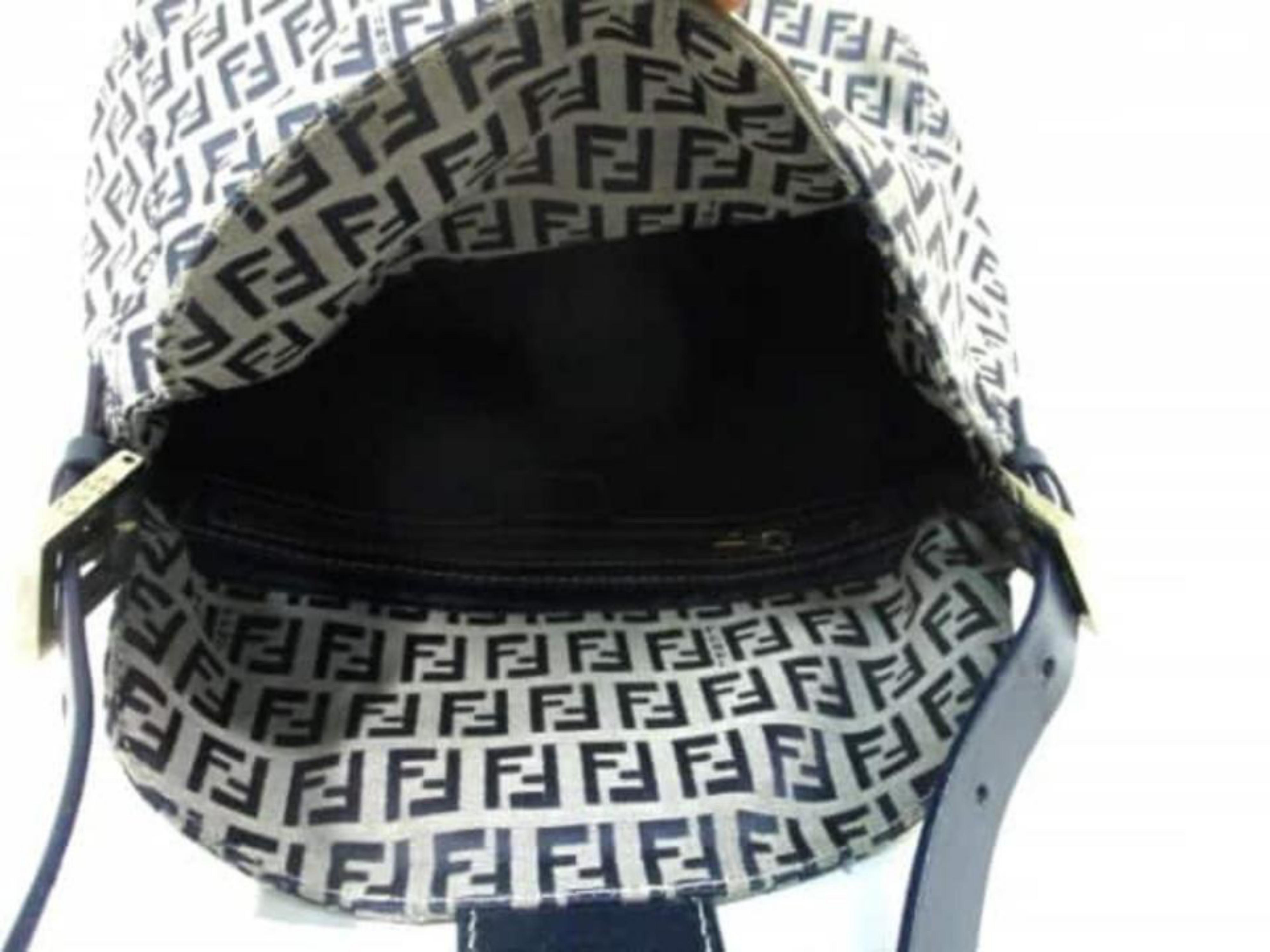 742a825816b Fendi Monogram Ff Mama Hobo 227991 Navy Coated Canvas Shoulder Bag at  1stdibs