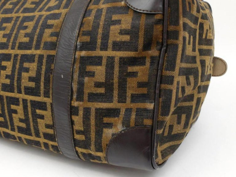744428abf9 Fendi Monogram Ff Zucca Boston 232897 Brown Canvas Weekend Travel Bag For  Sale 5