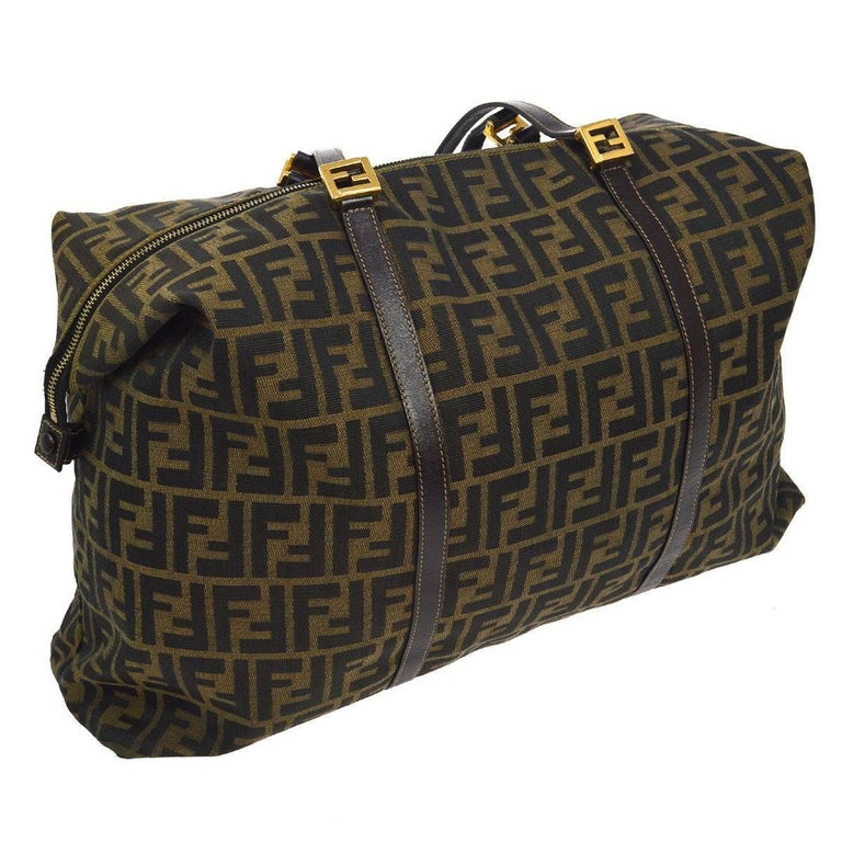 Fendi Monogram Logo Large Carryall Travel Weekender Shoulder Tote Bag