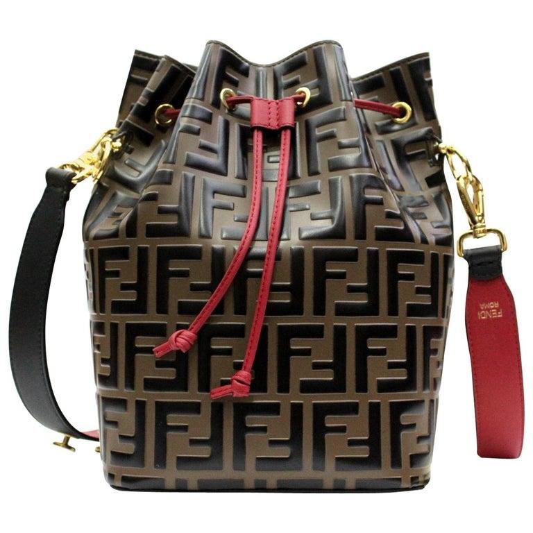 9eac761815a Fendi Monogram Mon Tresor Medium Bucket Bag For Sale at 1stdibs