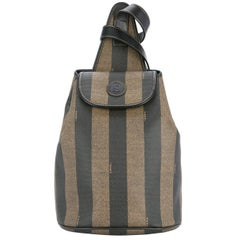 Fendi Monogram Stripe Carryall Shoulder Crossbody Backpack Bag