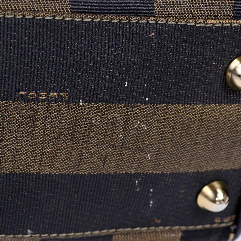 Fendi Monogram Stripe Vintage Top Handle Bag with Optional Shoulder Strap For Sale 6