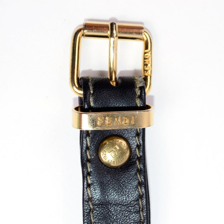 Fendi Monogram Stripe Vintage Top Handle Bag with Optional Shoulder Strap For Sale 9