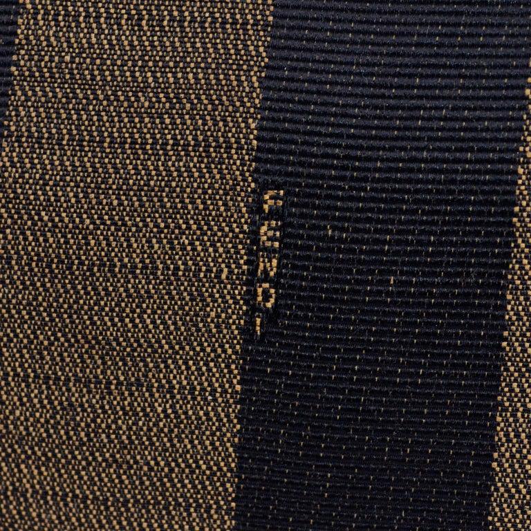 Fendi Monogram Stripe Vintage Top Handle Bag with Optional Shoulder Strap For Sale 3