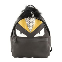 Fendi Monster Backpack Nylon with Leather and Fur Large