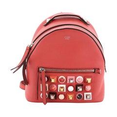 Fendi Monster Backpack Studded Leather Mini