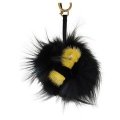 Fendi Monster Bugs Bag Charm Fox Mink Fur Multicolor