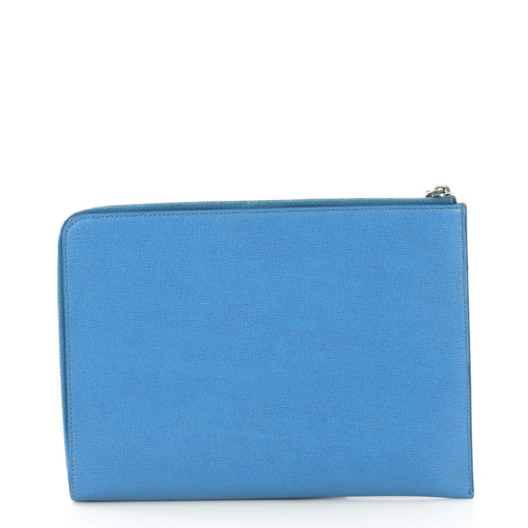 834348d560c Fendi Monster Clutch Leather Medium In Good Condition For Sale In New York,  NY