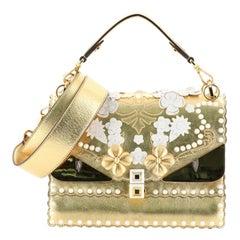 Fendi Monster Kan I Bag Flower Studded Leather Medium