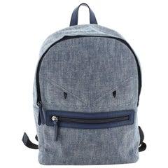 Fendi  Monster Kid's Backpack Denim Small