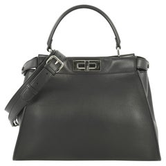 Fendi Monster Peekaboo Bag Calfskin and Python Regular