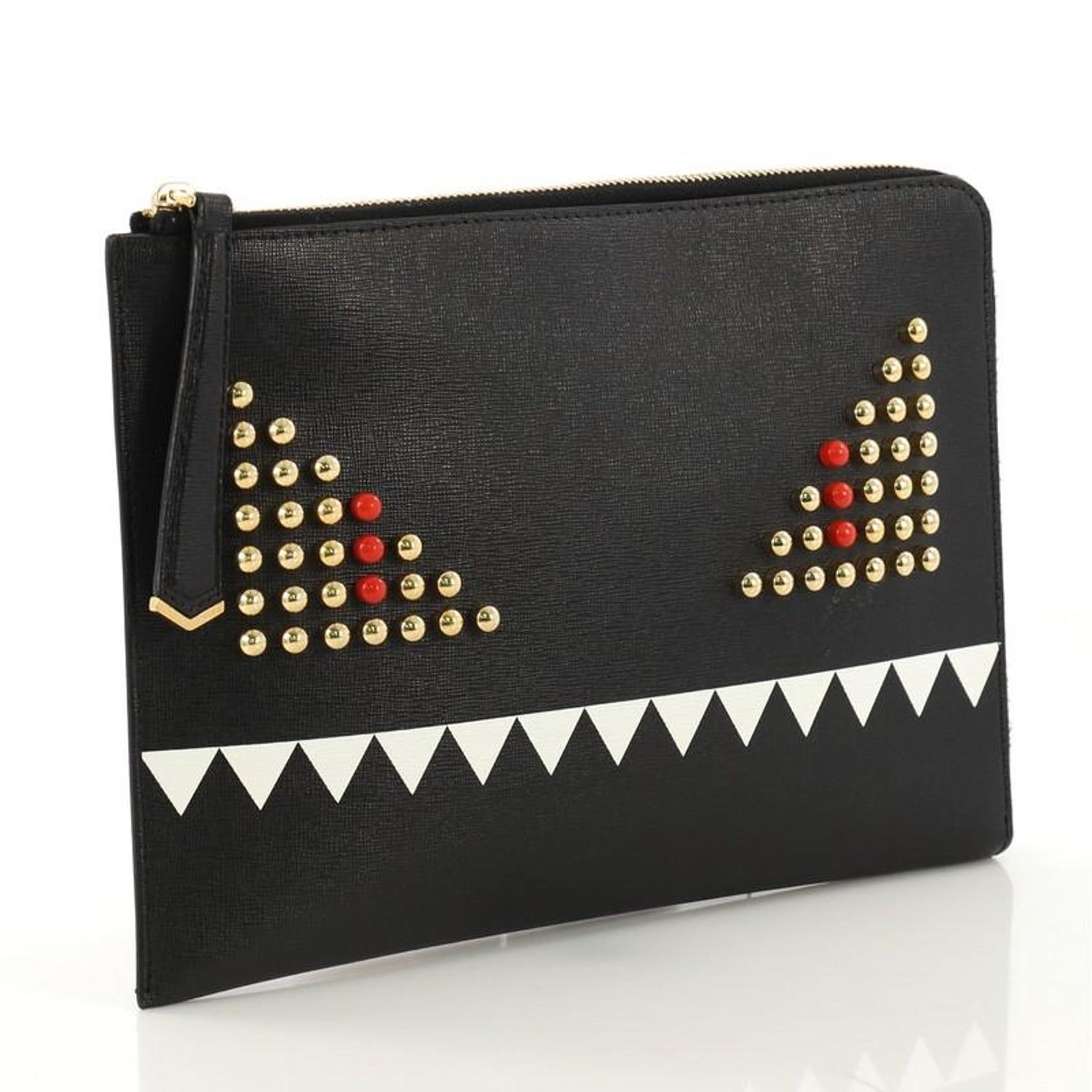 5871cee86e Fendi Monster Pouch Studded Leather Small