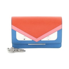 Fendi Monster Wallet On Chain Leather