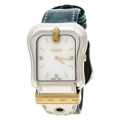 Fendi Mother of Pearl Gold Plated Stainless Steel 3800G Women's Wristwatch 33 mm
