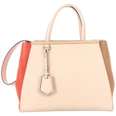 Fendi Multicolor 2Jours Bag Leather Medium