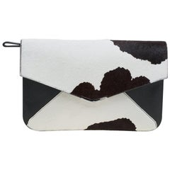 Fendi Multicolor Calf Hair and Leather 2Jours Envelope Clutch