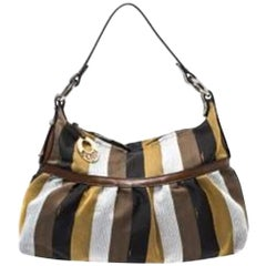 Fendi Multicolor Canvas and Leather Chef Hobo