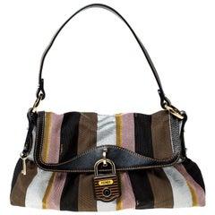 Fendi Multicolor Canvas Limited Edition Pequin Chef Shoulder Bag