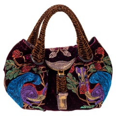 Fendi Multicolor Embroidered Squirrel Velvet Spy Bag