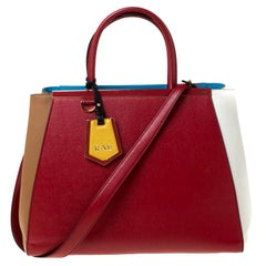Fendi Multicolor Leather 2Jours Tote