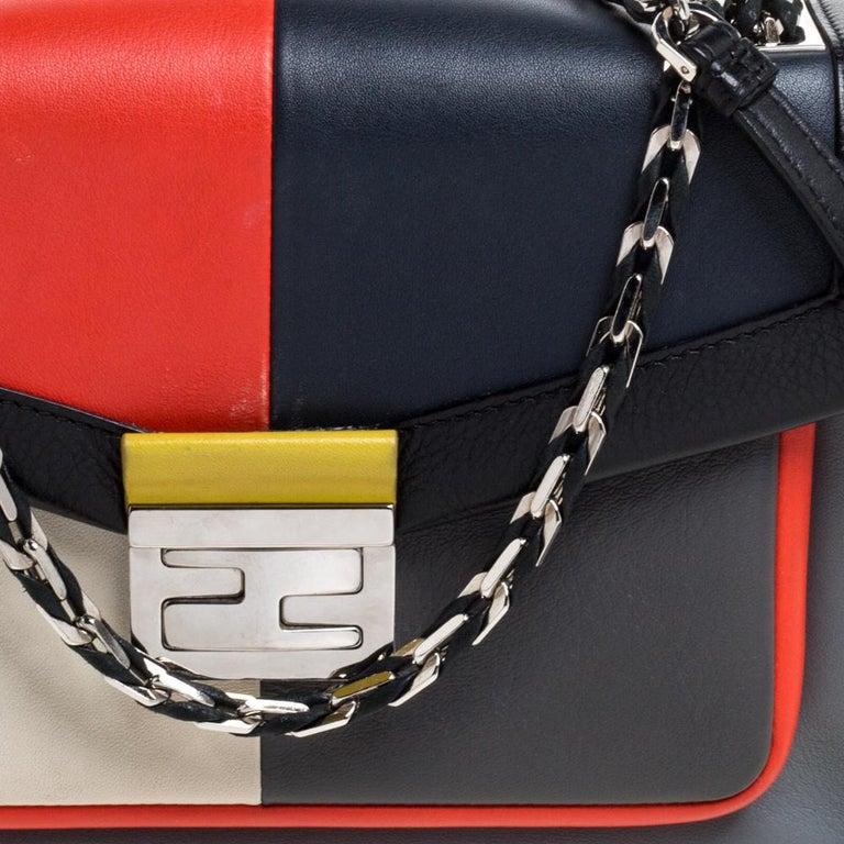 Fendi Multicolor Leather Be Baguette Shoulder Bag For Sale 5