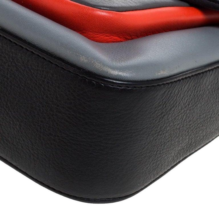 Fendi Multicolor Leather Be Baguette Shoulder Bag For Sale 6