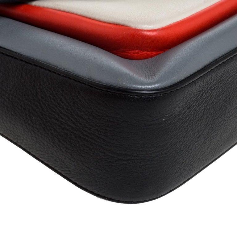 Fendi Multicolor Leather Be Baguette Shoulder Bag For Sale 7