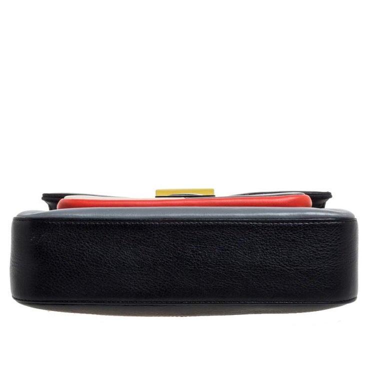 Women's Fendi Multicolor Leather Be Baguette Shoulder Bag For Sale