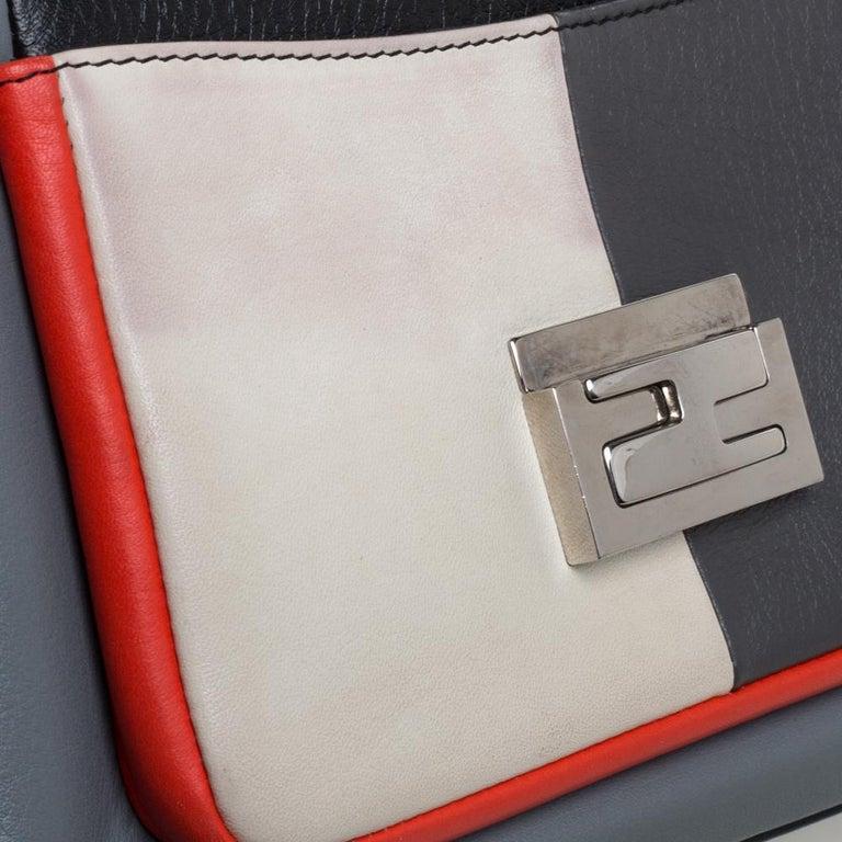 Fendi Multicolor Leather Be Baguette Shoulder Bag For Sale 1