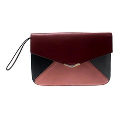 Fendi Multicolor Leather Geometric Envelope Clutch