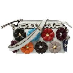 Fendi Multicolor Leather Mini By The Way Flowerland Crossbody Bag