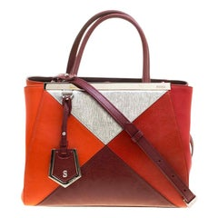 Fendi Multicolor Leather Small Geometric 2jours Tote