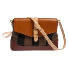 Fendi Multicolor Pequin Canvas and Leather Mini Crossbody Bag