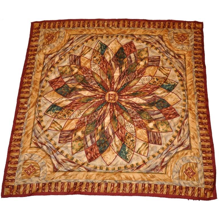69e05ce0db3 Fendi Multicolor Silk Jacquard