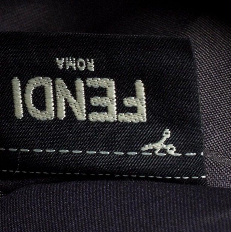 Fendi Multicolor Zucca Velvet and Leather Triplette Clutch Bag 5