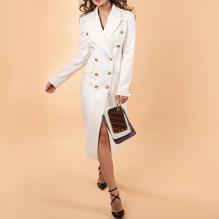 Black Fendi Multicolor Zucca Velvet and Leather Triplette Clutch Bag