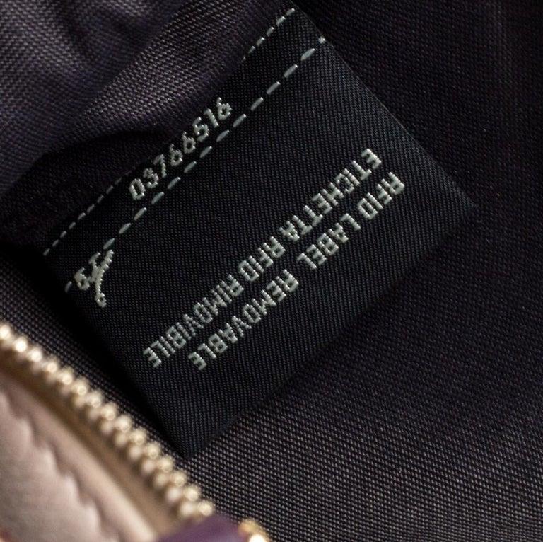 Fendi Multicolor Zucca Velvet and Leather Triplette Clutch Bag 1