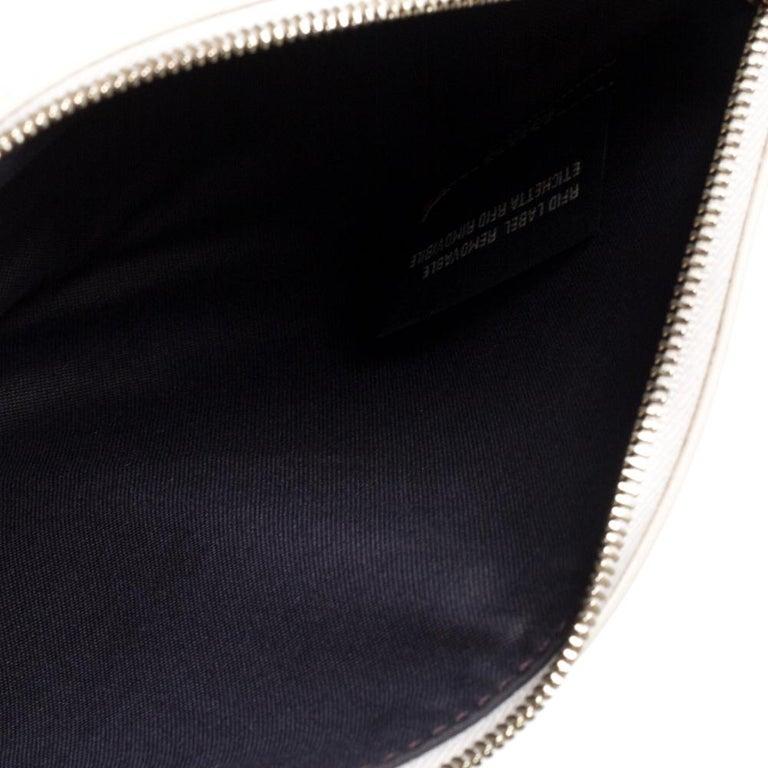 Fendi Multicolor Zucca Velvet and Leather Triplette Clutch Bag 3