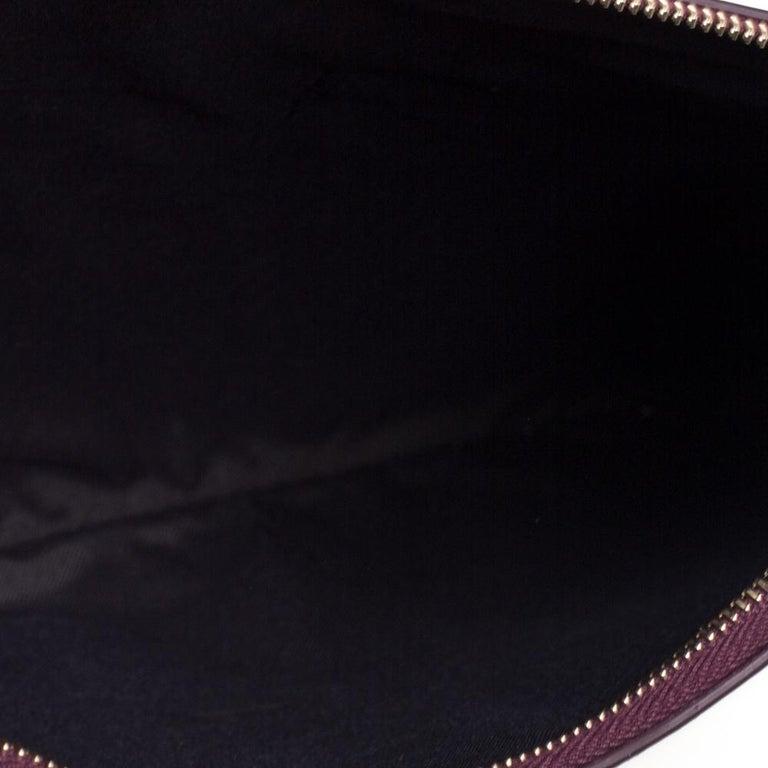 Fendi Multicolor Zucca Velvet and Leather Triplette Clutch Bag 4