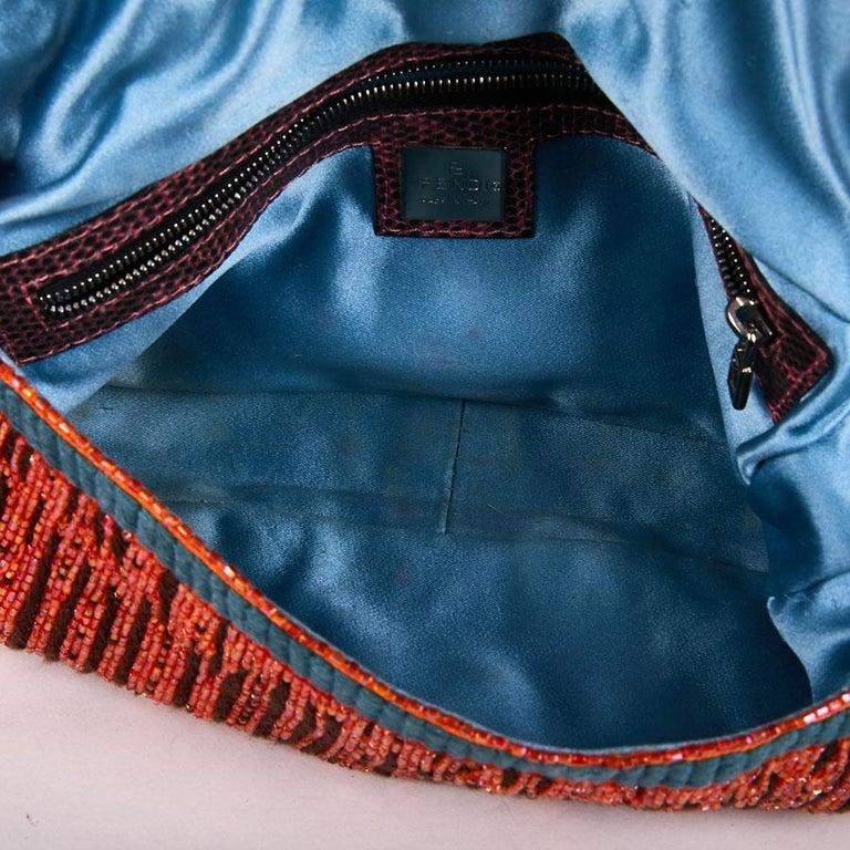 FENDI Multicolored Sequins and Lizard Baguette Bag 8