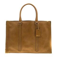 Fendi Mustard Dimpled Leather Classico 4 Tote