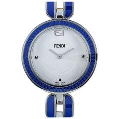 Fendi My Way Blue Ceramic Quartz Watch F357034003